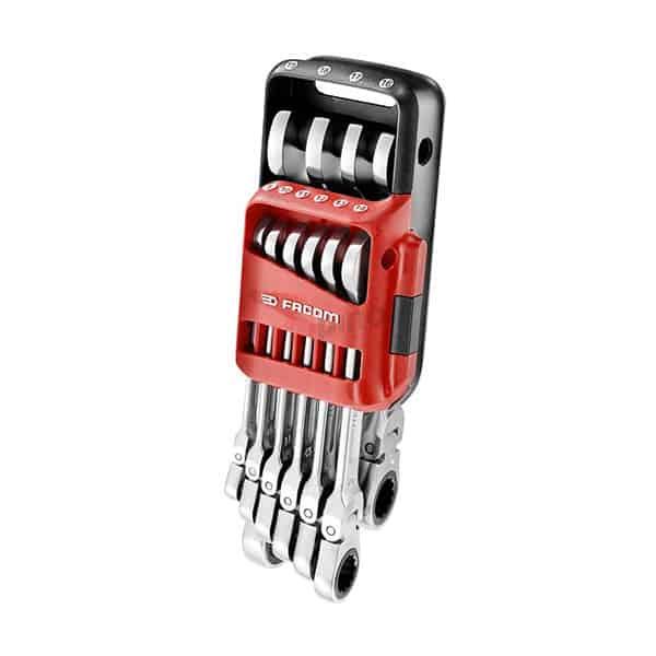 Juego de 10 llaves mixtas con trinquete Facom 467BF.JP10